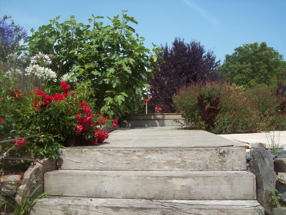 Escalier en traverses