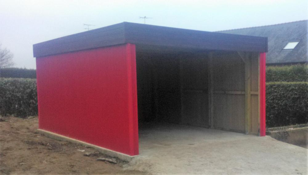 Montage garage bois